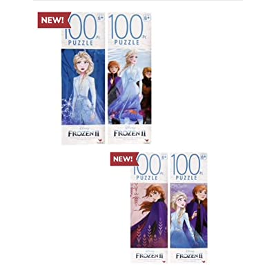 Disney Frozen 2 100 Piece Jigsaw Puzzle Gift Set(Set of 4): Toys & Games