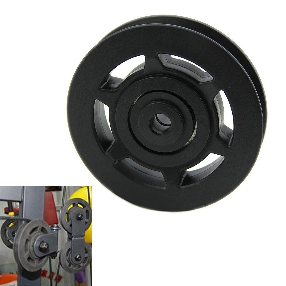 Emma 2pcs 95/mm Cable Redondo Polea Rueda Rodamientos Lift Deportes Equipo Wearproof