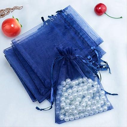 Bolsas de joyería de 100 piezas Embalaje Bolsas de organza ...