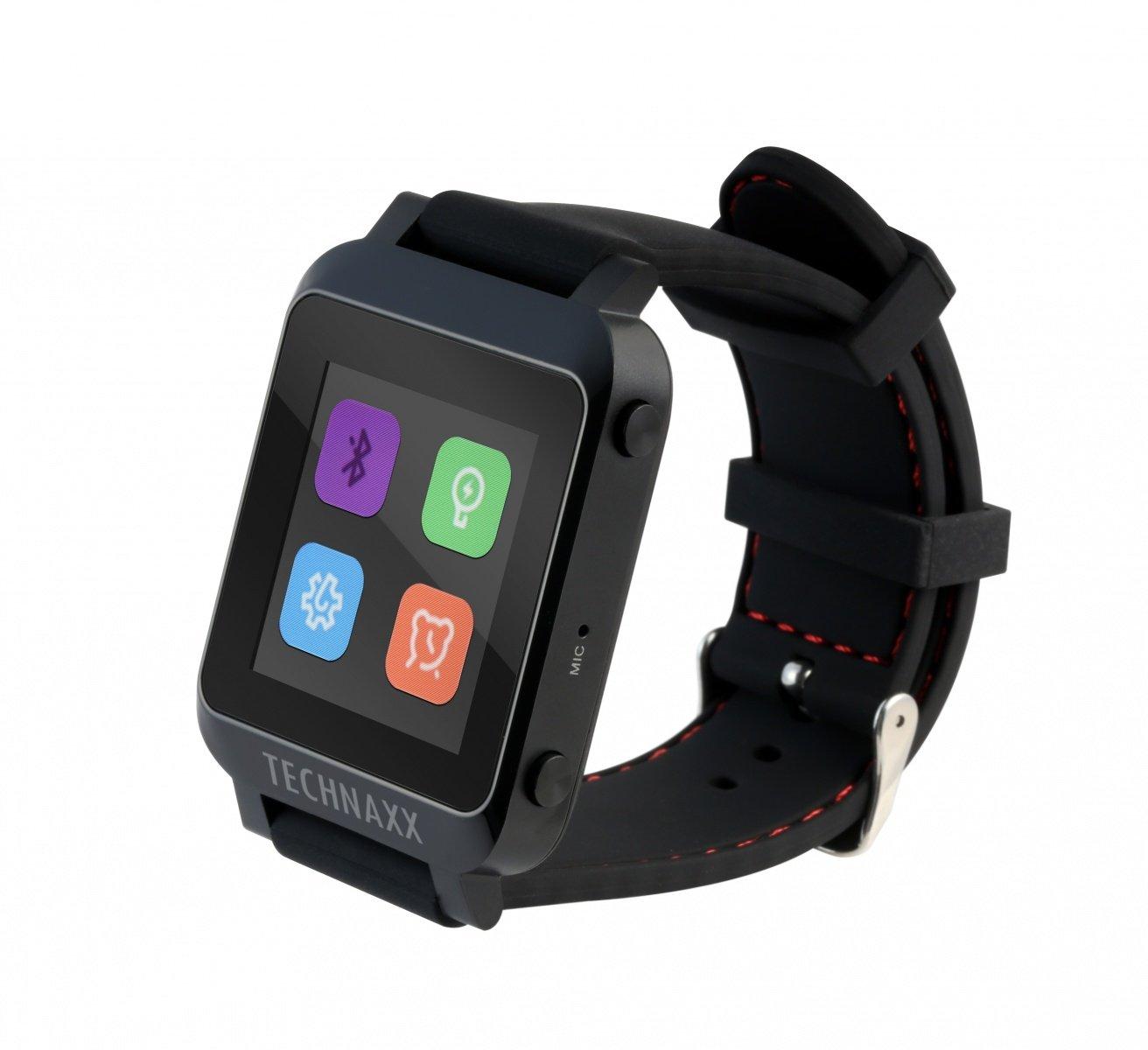 Technaxx TX-26 - relojes inteligentes (4.0 EDR, Polímero de litio, 290 mAh, 48h, 1 cm, 5,8 cm) Negro: Amazon.es: Electrónica