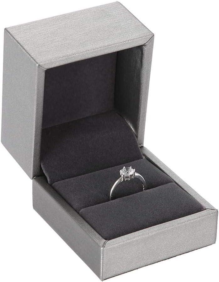 Accessoires et bo/îte demballage 10 Cadeaux yuyte Bo/îte de Rangement en Cuir PU pour Bijoux