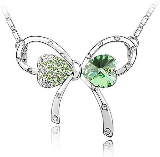 Collier Noeud Papillon Romantique avec cristal Swarovski Elements ...