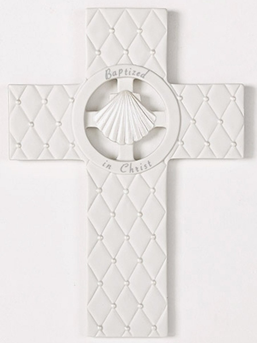 Roman Inc 7.5'' ''Baptism in Christ'' Wall Cross Faithful Blessing