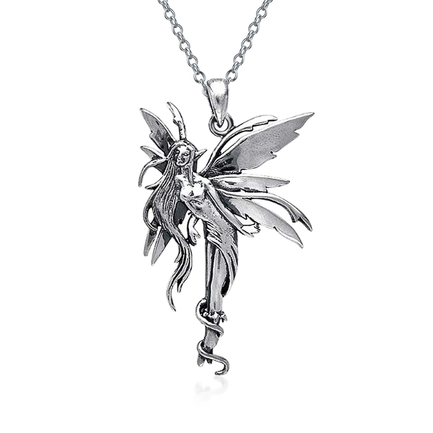 kempen sterling pearl jewelry van simulated nouveau silver necklace fairy art in