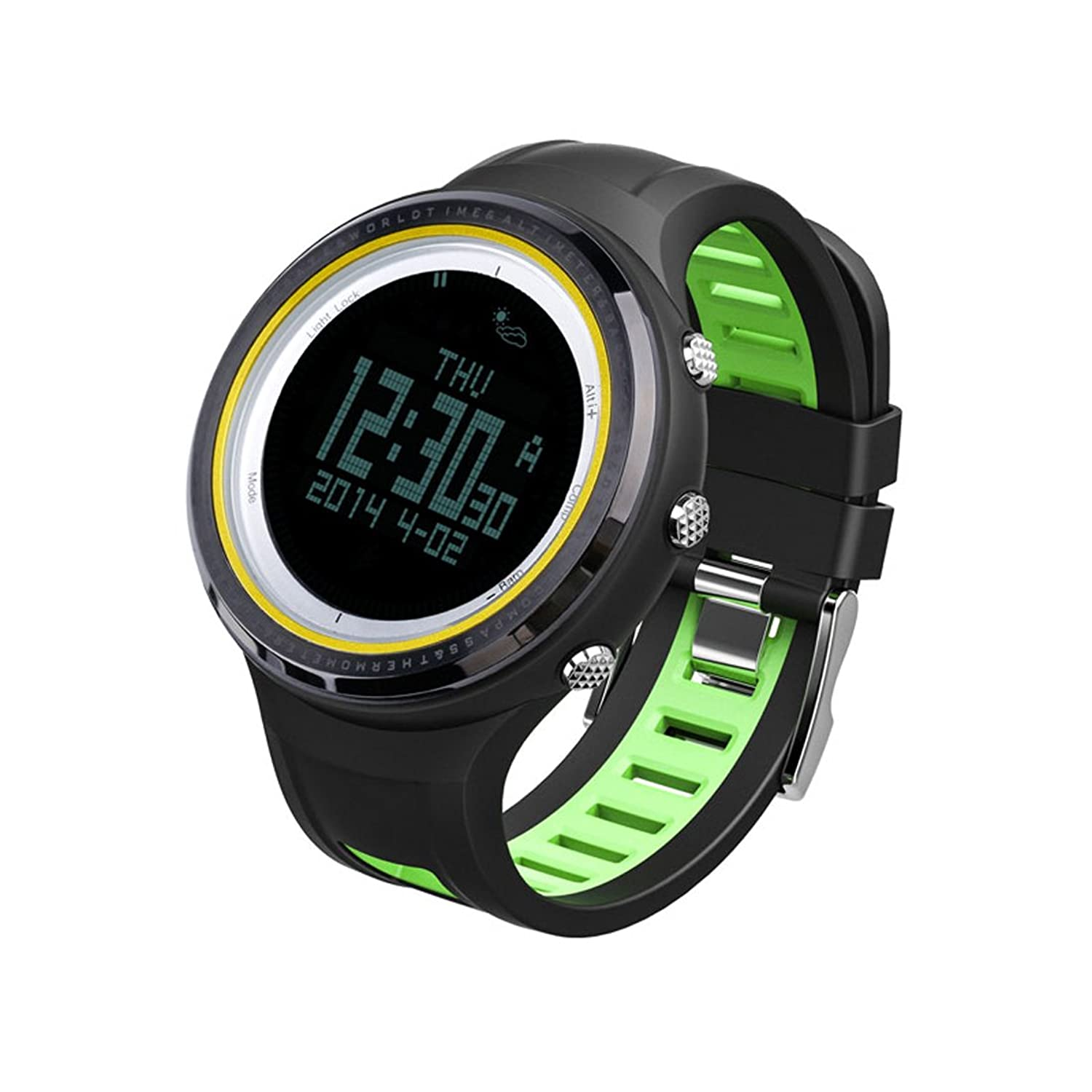 SUNROAD FR800NB Digital Outdoor Sports Men Watch -5ATM Waterproof Backlight Compass Pedometer Thermometer Relogio