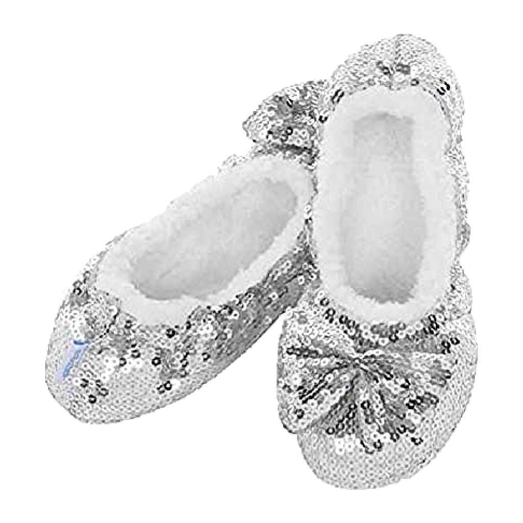 Snoozies Womens Zapatillas de Suela Suave con Mango de Gel. Cálido Forro Polar Sherpa.: Amazon.es: Zapatos y complementos