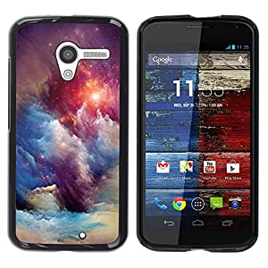 Cubierta protectora del caso de Shell Plástico || Motorola Moto X 1 1st GEN I XT1058 XT1053 XT1052 XT1056 XT1060 XT1055 || Universe Stars Blue Awe @XPTECH