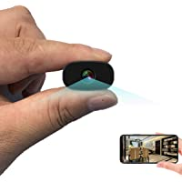 Mini Hidden Cameras PNZEO W3 Spy Cam Portable Wireless WiFi Remote View Camera Small Home Security Cameras Indoor…