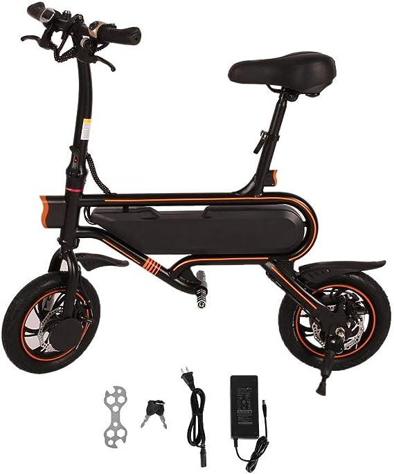 Homgrace Bicicleta eléctrica Plegable, Velocidad máxima de 30 km/h ...