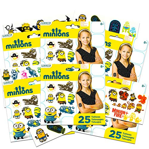 Despicable Me Minions Tattoos ~ 150 Minions Temporary Tattoos (Minions Party Favors)