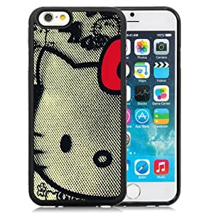 Fashion DIY Custom Designed iPhone 6 4.7 Inch TPU Phone Case For Knitted Fabric Hello Kitty Phone Case Cover