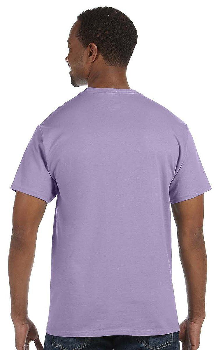 XXXXX-Large Hanes Ultimate Tagless Double-Needle Crewneck T-Shirt SMOKE GRAY