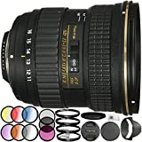 Tokina AT-X 116 PRO DX-II 11-16mm f/2.8 Lens for Nikon F 18PC Accessory Kit Which Includes Manufacturer Accessories + 3 Piece Filter Kit (UV-CPL-FLD) + 4 Piece Macro Filter Set (+1,+2,+4,+10) + MORE
