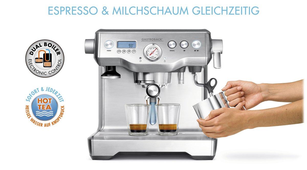 Gastroback 42636 - Cafetera (Máquina espresso, 2,5 L, De café molido, 1800 W, Acero inoxidable): Amazon.es: Hogar