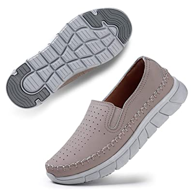 990c850cafd35 STQ Womens Casual Walking Shoes Breathable Lightweight Slip on Flat Loafer