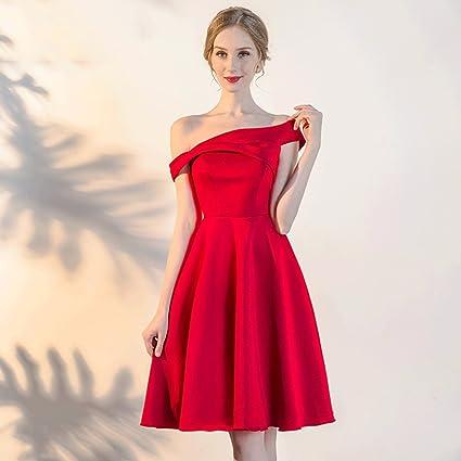 Vestido de noche Mini Vestido Sección Corta Verano Rojo Novia/Vestido De Dama De Honor