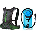 Dax: Hydration Backpack: 2L BPA Free Water Bladder, Multiple Storage Compartments, Insulated Hose, Hydration Pack For Men, Women and Kids, Best Outdoor Gear for Skiing, Running, Hiking, Cycling