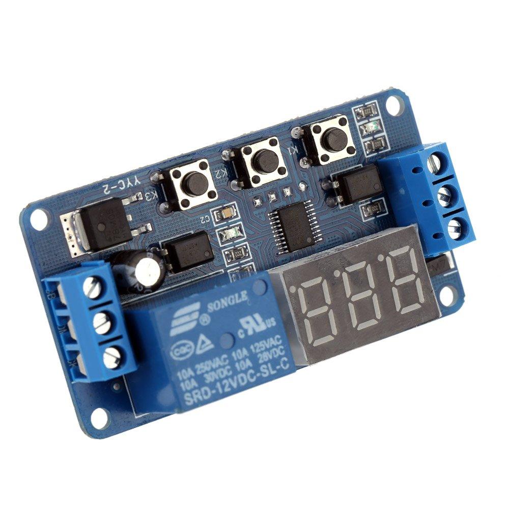 Kkmoon 12v 24v Dc Digital Delay Timer Elektronik 12 Volt Relay Switch