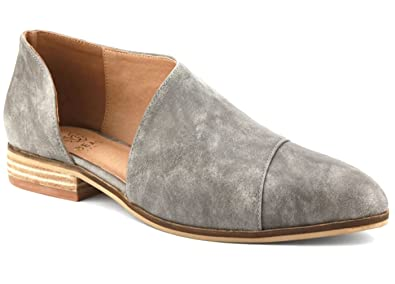 Beast Fashion Carter-05 Women D'Orsay Slip On Pointy Cap Toe Extreme Cut