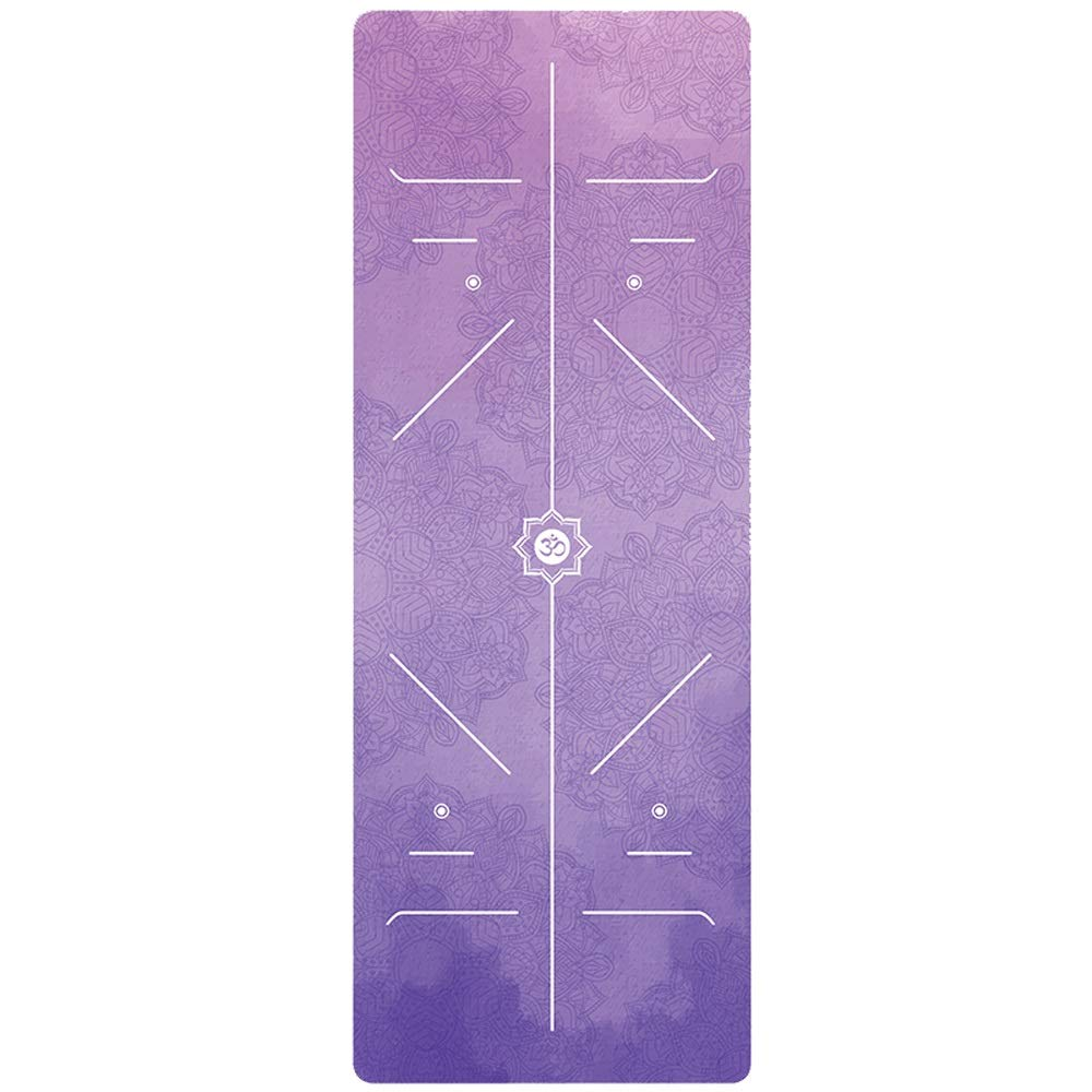 XUMINGYJD Professional Yoga mat Female Dance mat Non-Slip Natural Rubber Fitness mat 1.5mm Thin Section Widened Length 18368cm Outdoor Home mat Pilates (Color : A, Size : Thickness1.5mm)