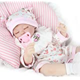 "Kaydora Reborn Baby Dolls Realistic 16"" Silicone Vinyl Handmade Lifelike Newborn Baby Dolls Gifts Toys"