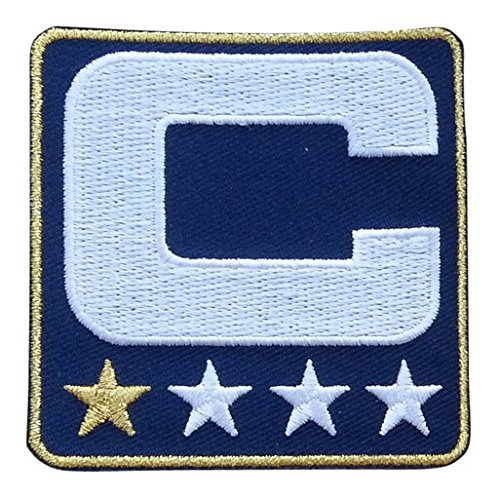 Patch (1 Gold Star) Iron On for Jersey Football, Baseball. Soccer, Hockey, Lacrosse, Basketball (C&c Star)