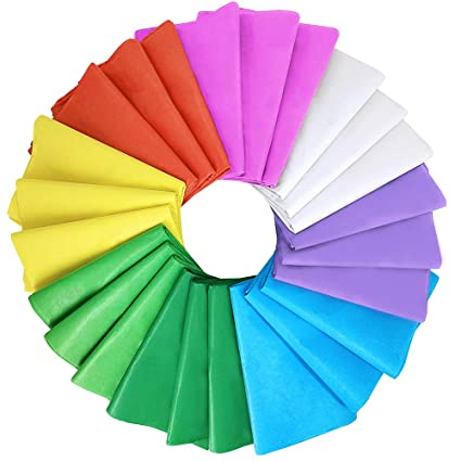 15 EASTER COLOURED SHEETS OF TISSUE PAPER 50cm x 50cm DECORATION ARTS CRAFT NEW