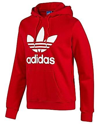 Adidas Trefoil X41185 Sudadera con capucha, rojo Rot - Rot L: Amazon.es: Ropa y accesorios