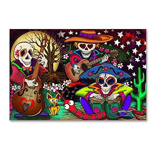 - CafePress - Day Of The Dead Music Art - Postcards (Package of 8), 6