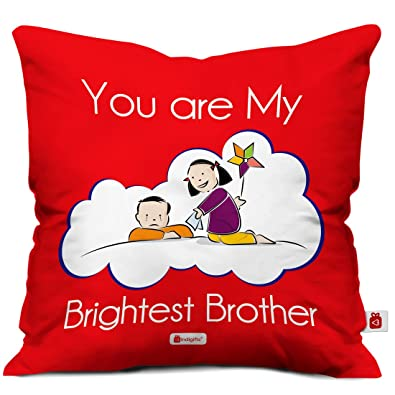 Indi ts Set of Brightest Bro Quote Printed Cushion Cover