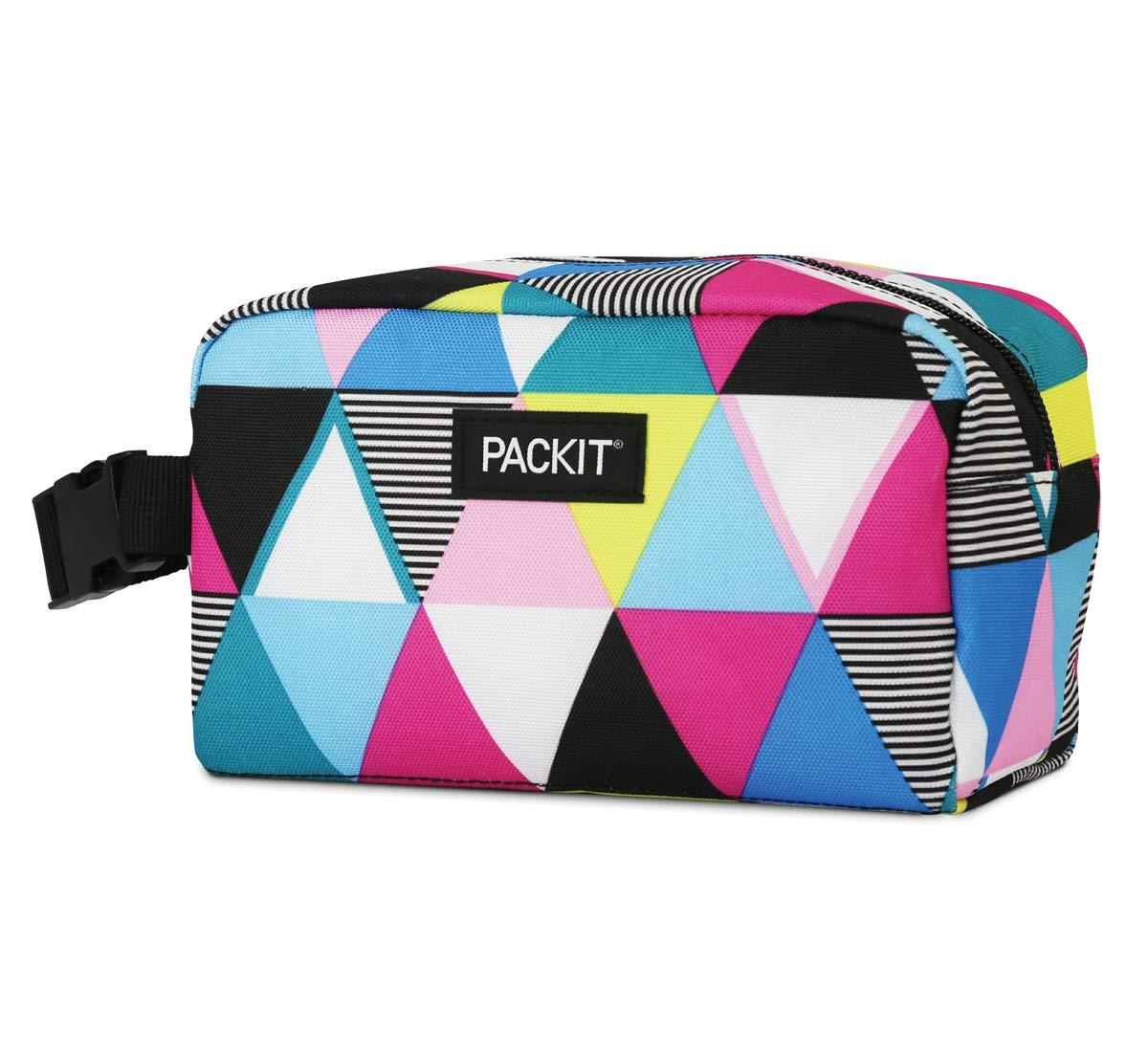 PackIt AMZ-SX-TST Freezable Snack Box, Triangle Stripes