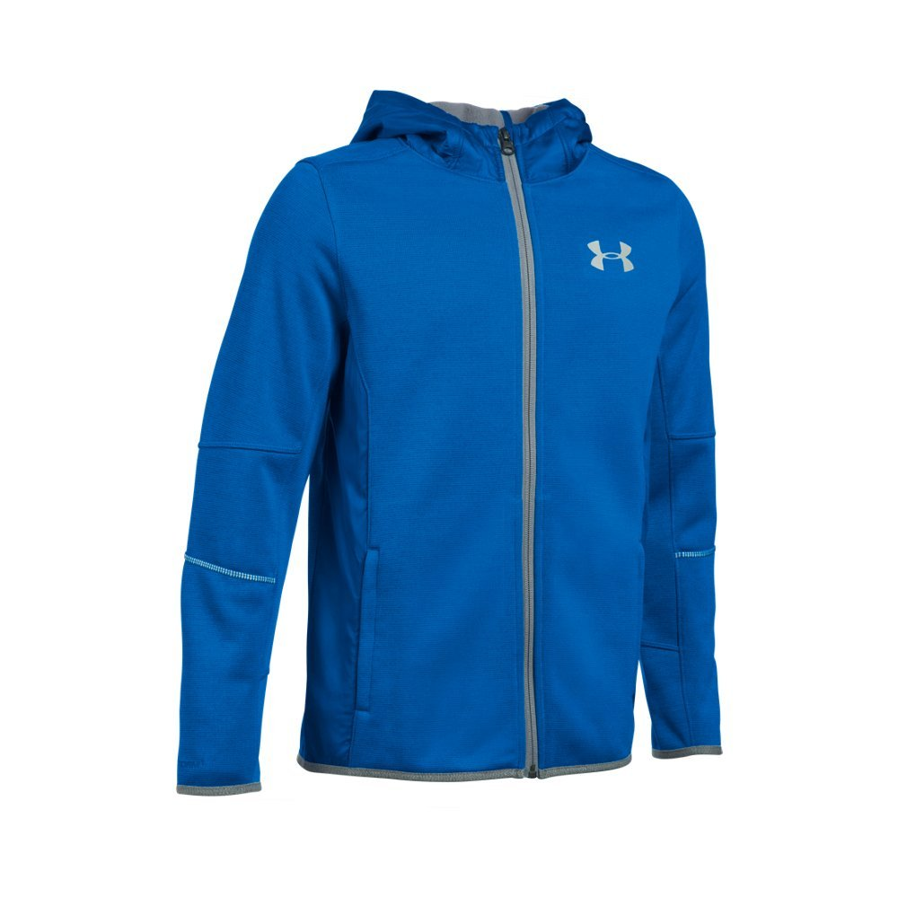 Under Armour Boys' Swacket FZ, Ultra Blue/Silver, Youth X-Small