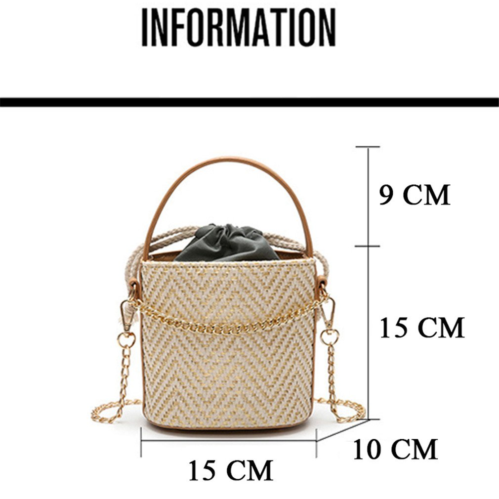 Amazon.com: ULVMHFNH Bohemian Women Straw Bags Female Beach Handbag Women Small Shoulder Designer Handbags D05101: Sports & Outdoors