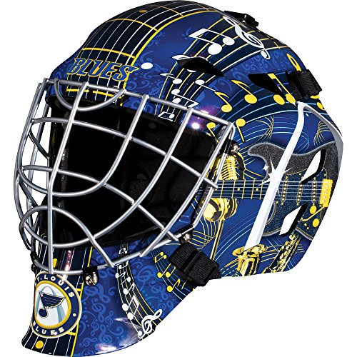 Goalie Mask Art - Franklin Sports St. Louis Blues Goalie Mask - Team Graphic Goalie Face Mask - GFM1500 Only for Ball & Street - NHL Official Licensed Product