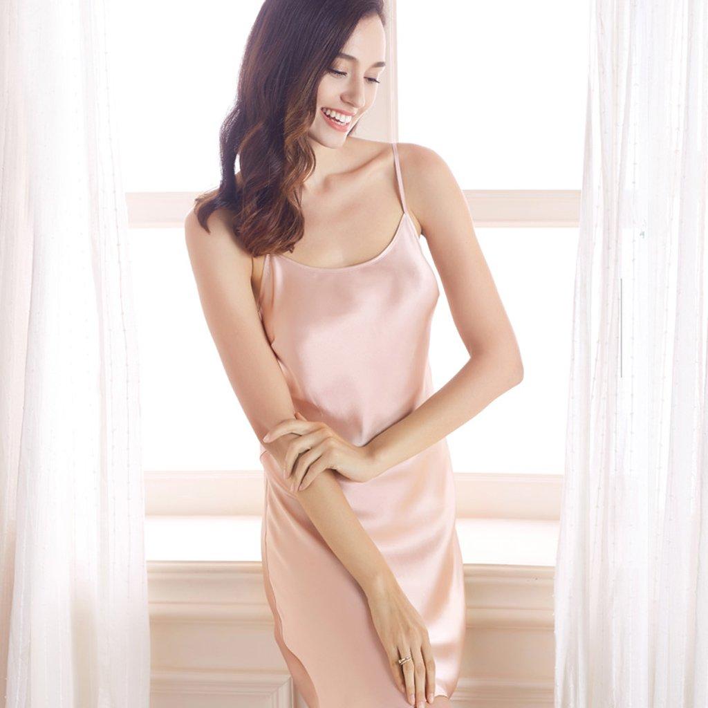 Pijamas de Camisón de Seda Ligueros Mujeres Falda de Seda Sexy ...
