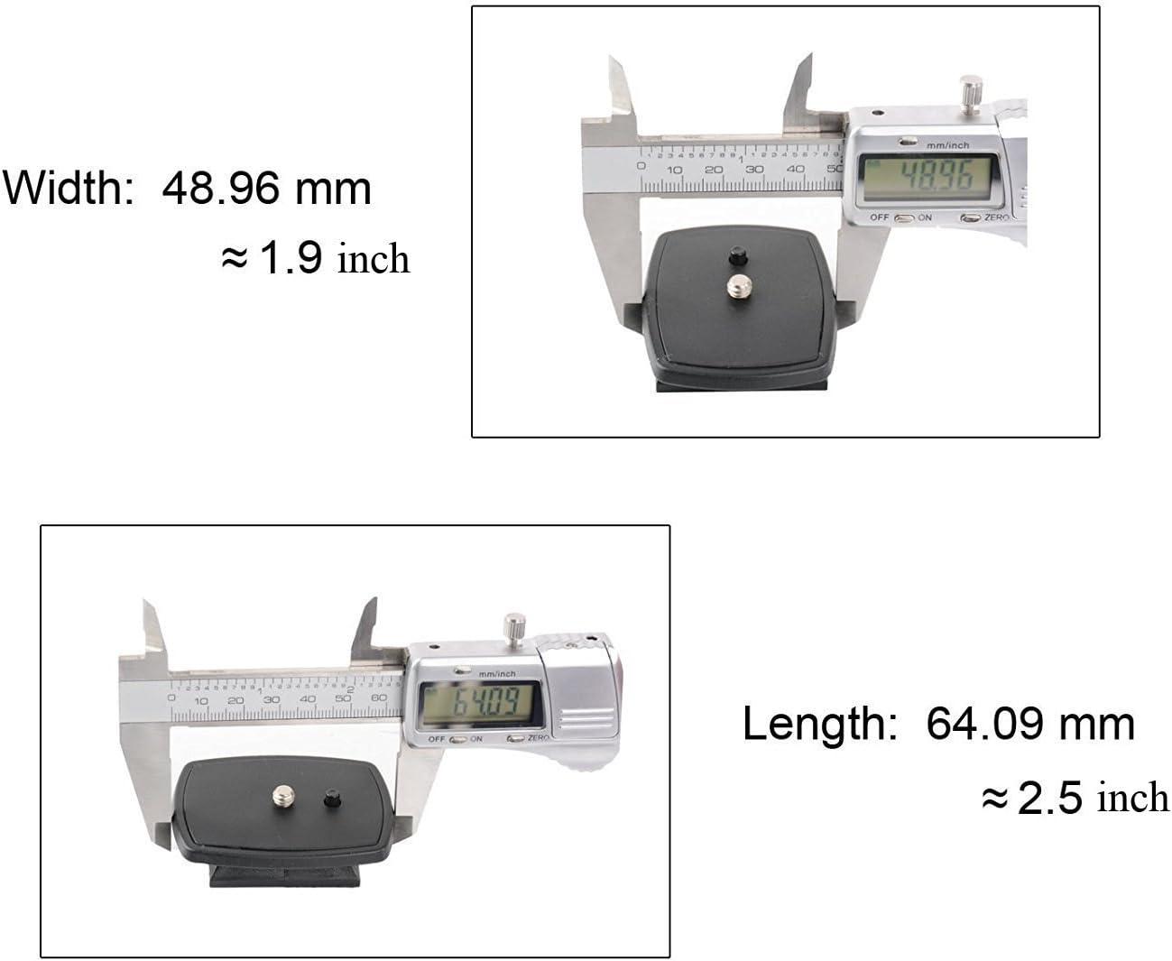 ZOMEI Adaptateur de plateau rapide Accessoire pour appareil photo Attache rapide pour Q111,Z666 tr/épied