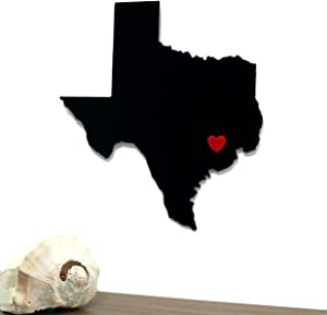 Mission Glass Works Texas State Outline Wall Silhouette Home TX Wall Art Shape Modern Décor