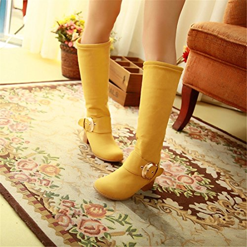 Botas tamaño candy tubo invierno color altas del botas yellow de pfTwrfIn7
