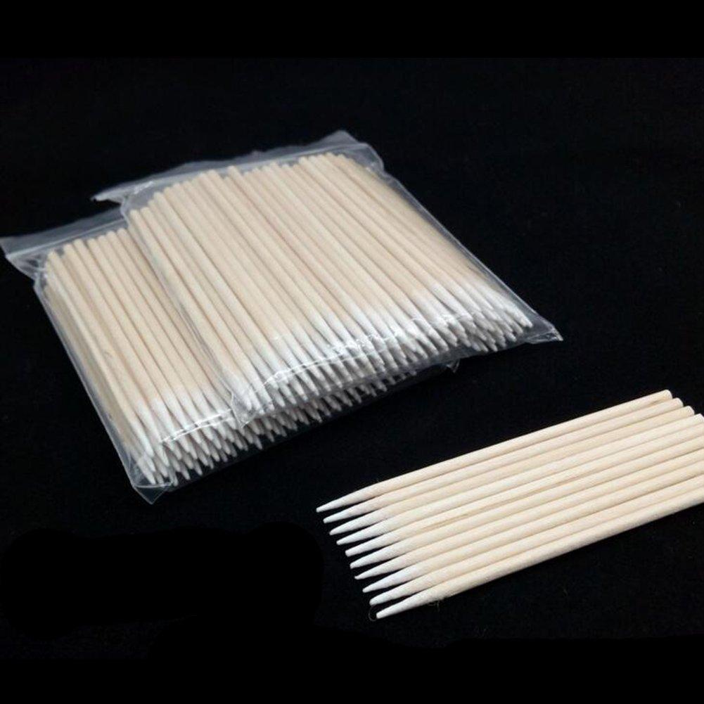 100pcs / Set Disposable Cotton Swabs Pointed Cotton Bud Set applicator Makeup 10cm Tofree