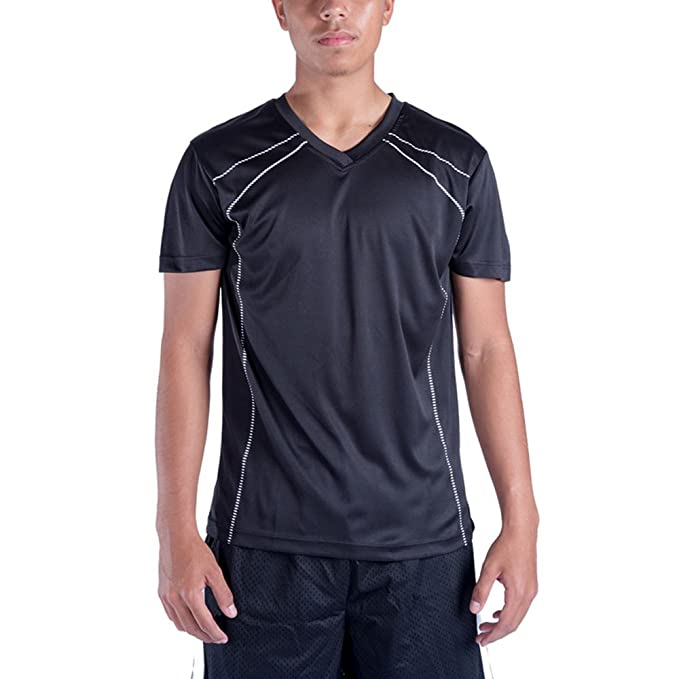 609359da Amazon.com: Mens Dry Fit T Shirts, V Neck Workout Running Athletic Relaxed Short  Sleeve Tee: Clothing