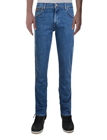 0aae2f32 Wrangler Men's Texas Stretch Denim Jeans New Reef Blue: Amazon.co.uk:  Clothing