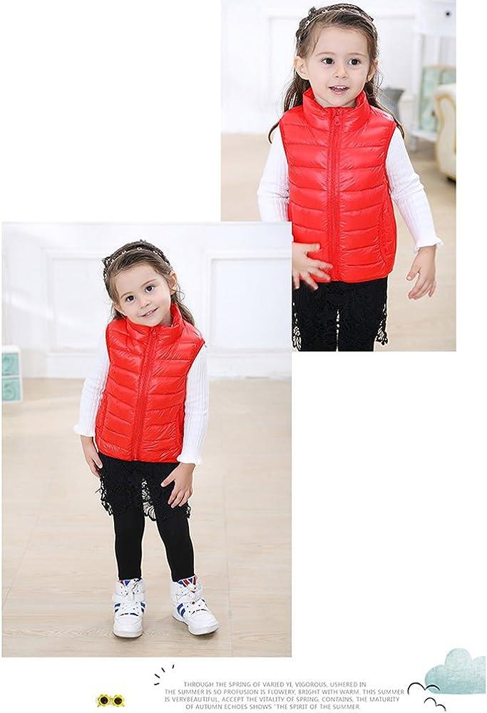 KINDOYO Kids Boys Girls Toddlers Warm Autumn Winter Jackets Duck Down Vest Tops Tank Coat Down Jackets Gilets Outerwear