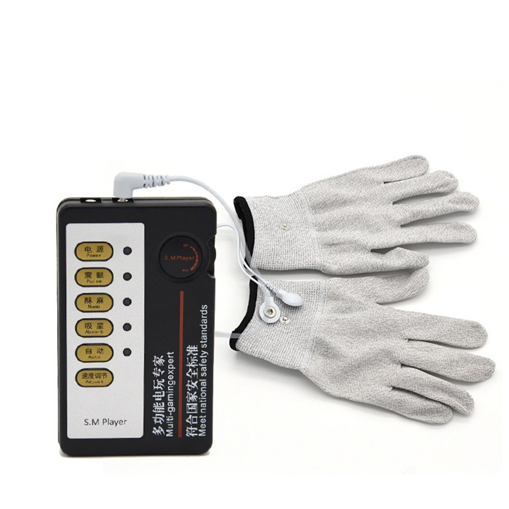 Adults Electric Shock Pulse Gloves for Physiotherapy Masturbation Massage Sex Toy Valentine's Day Gift