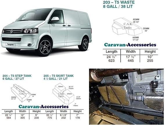 Depósito de agua dulce Kit para Volkswagen T5 y T6 conversiones de furgoneta Volkswagen: Amazon.es: Coche y moto