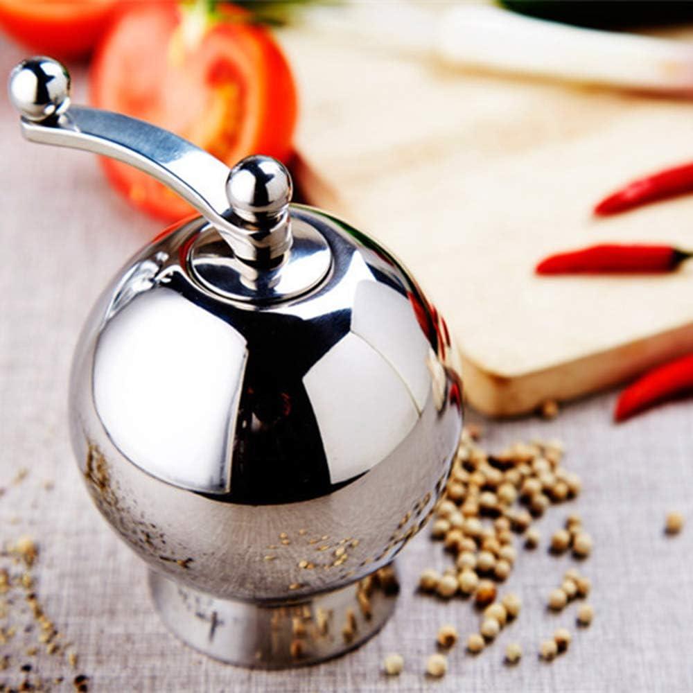Polvere fine con Nucleo in Ceramica AUOKER Funzionamento con Una Sola Mano 12,7 cm Facile da Pulire macina Pepe a manovella Resistente per Sale e Pepe in Legno risparmia Fatica