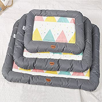 UabpT Mantas de Cama para Mascotas Summer Pet Dog Mat Bed Dog Puppy Cooling Mat Pad Cojín Cama para Pitbull Dog House Kennel Nest (Gris, S): Amazon.es: ...