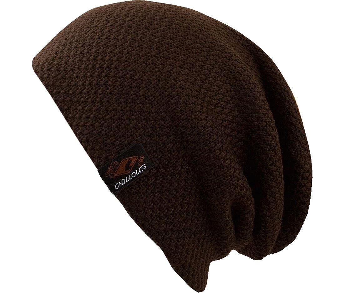 Osaka Hat - Tendance à long bonnet tricoté pour les hommes et les femmes - 2013/2014, bonnet tricoté 100% coton Bonnet 100% coton (brun)