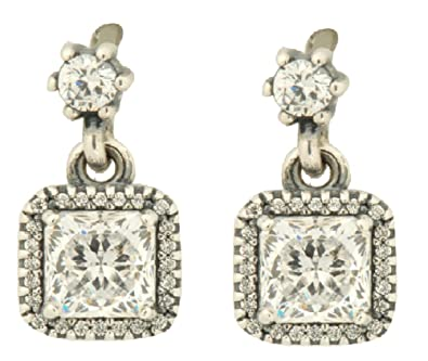 c630c1f6b Image Unavailable. Image not available for. Color: Pandora Earrings Silver  Pendant Women 290593CZ Timeless Elegance