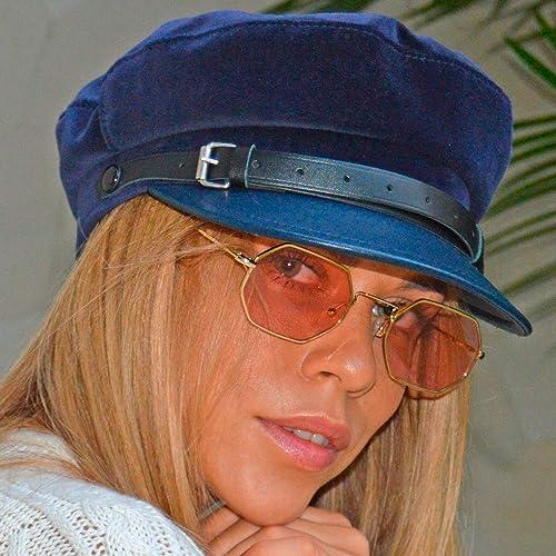 RACEU ATELIER Gorra Mujer CHLOE - Gorra marinera - Hecha en terciopelo -  Visera y cinta 10e204dfabb