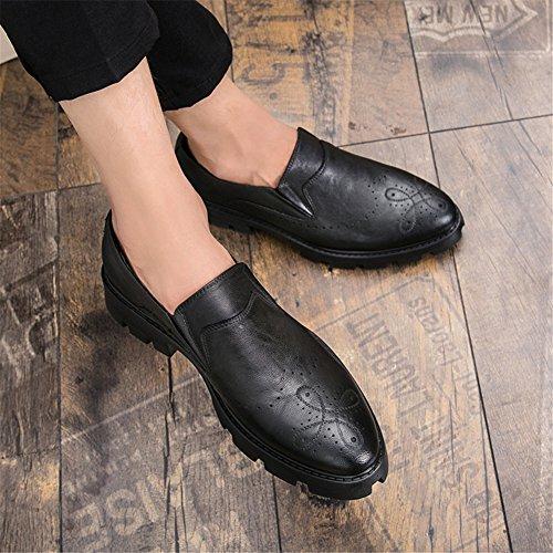 Barco Zapatos Casual Mocasines Negros Slip Negocios Planas on Trabajo Oficina Moda Hombre qT1rv5wxq
